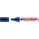 Edding 500 - Rotulador permanente, punta biselada, color azul