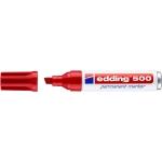 Edding 500 - Rotulador permanente, punta biselada, color rojo