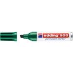 Edding 500 - Rotulador permanente, punta biselada, color verde