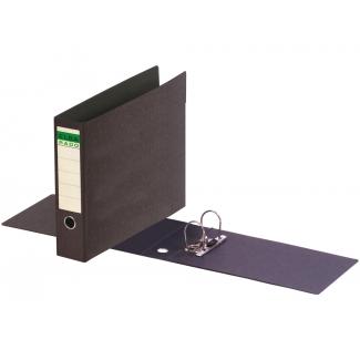 Elba 100202079 - Archivador de palanca, tamaño A3 apaisado, lomo ancho, con rado, color negro