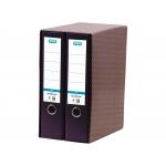 Elba 100580054 - Módulo de 2 archivadores de palanca, tamaño A4, 2 anillas de 80 mm, color negro