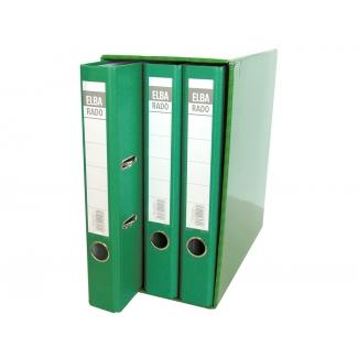 Elba 100580057 - Módulo de 3 archivadores de palanca, tamaño A4, 2 anillas, lomo de 50 mm, color verde