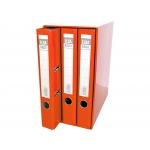 Elba 100580058 - Módulo de 3 archivadores de palanca, tamaño A4, 2 anillas, lomo de 50 mm, color rojo