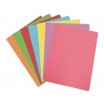 Elba Gio - Paquete de 50 subcarpetas de cartulina, Folio, 180 gr/m2, colores pasteles surtidos