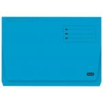 Elba Gio Pocket - Subcarpeta de cartulina, Folio, 320 gr/m2, color azul, con bolsa y solapa