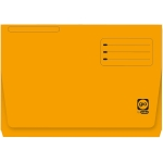 Elba Gio Pocket - Subcarpeta de cartulina, Folio, 320 gr/m2, color naranja, con bolsa y solapa