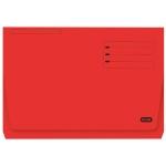 Elba Gio Pocket - Subcarpeta de cartulina, Folio, 320 gr/m2, color rojo, con bolsa y solapa