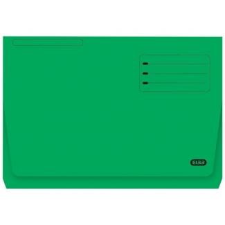 Elba Gio Pocket - Subcarpeta de cartulina, Folio, 320 gr/m2, color verde, con bolsa y solapa