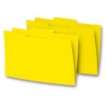 Elba Gio - Subcarpeta de cartulina con pestaña central, folio, 250 gr/m2, color amarillo