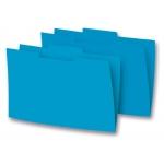 Elba Gio - Subcarpeta de cartulina con pestaña central, folio, 250 gr/m2, color azul