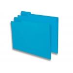 Elba Gio - Subcarpeta de cartulina con pestaña izquierda, folio, 250 gr/m2, color azul
