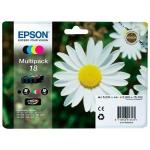 Epson T1806 - Cartucho de tinta original, C13T18064012, negro, cían, magenta y amarillo, pack de 4