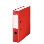 Esselte 42301 - Archivador de palanca, tamaño folio, lomo ancho, con rado, color rojo