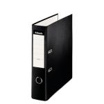 Esselte 42304 - Archivador de palanca, tamaño folio, lomo ancho, con rado, color negro