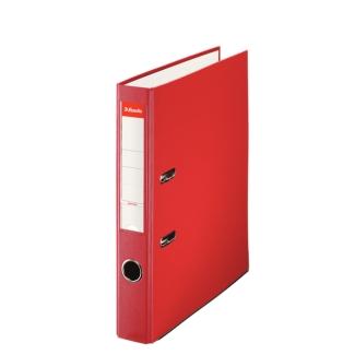 Esselte 42305 - Archivador de palanca, tamaño folio, lomo estrecho, con rado, color rojo