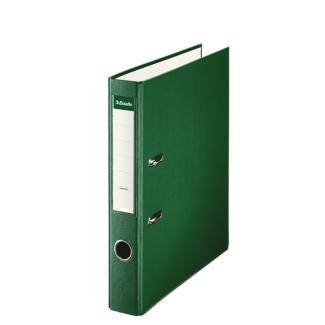 Esselte 42306 - Archivador de palanca, tamaño folio, lomo estrecho, con rado, color verde