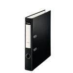 Esselte 42308 - Archivador de palanca, tamaño folio, lomo estrecho, con rado, color negro