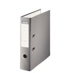 Esselte 42322 - Archivador de palanca, tamaño folio, lomo ancho, con rado, color gris