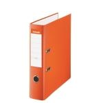Esselte 42323 - Archivador de palanca, tamaño folio, lomo ancho, con rado, color naranja