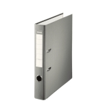Esselte 42326 - Archivador de palanca, tamaño folio, lomo estrecho, con rado, color gris