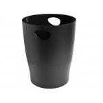 Exacompta 453014D - Papelera de plástico, 15 litros, color negro opaco