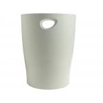 Exacompta 45306D - Papelera de plástico, 15 litros, color gris opaco