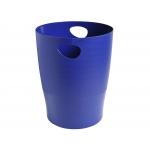 Exacompta 453104D - Papelera de plástico, 15 litros, color azul opaco