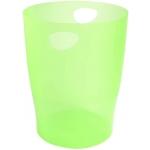Exacompta 45397D - Papelera de plástico, con asas, 15 litros, color verde translúcido