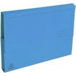 Exacompta 47672E - Subcarpeta de cartulina reciclada, A4, 290 gr/m2, color celeste, con bolsa y solapa