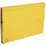 Exacompta 47679E - Subcarpeta de cartulina reciclada, A4, 290 gr/m2, color amarillo, con bolsa y solapa