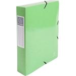 Exacompta 50623E - Carpeta de proyectos con gomas, tamaño A4, lomo de 60 mm, color verde anis