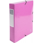 Exacompta 50624E - Carpeta de proyectos con gomas, tamaño A4, lomo de 60 mm, color rosa