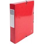 Exacompta 50625E - Carpeta de proyectos con gomas, tamaño A4, lomo de 60 mm, color rojo