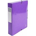 Exacompta 50626E - Carpeta de proyectos con gomas, tamaño A4, lomo de 60 mm, color violeta