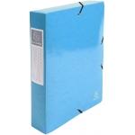 Exacompta 50627E - Carpeta de proyectos con gomas, tamaño A4, lomo de 60 mm, color azul claro