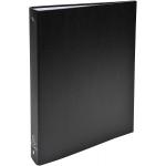 Exacompta 51371E - Carpeta de anillas, 4 anillas redondas de 30 mm, cartón forrado, tamaño A4, color negro