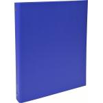 Exacompta 51372E - Carpeta de anillas, 4 anillas redondas de 30 mm, cartón forrado, tamaño A4, color azul oscuro