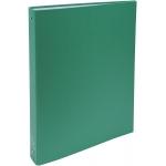 Exacompta 51373E - Carpeta de anillas, 4 anillas redondas de 30 mm, cartón forrado, tamaño A4, color verde oscuro