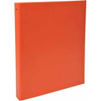 Exacompta 51374SE - Carpeta de anillas, 4 anillas redondas de 30 mm, cartón forrado, tamaño A4, color naranja