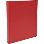 Exacompta 51375E - Carpeta de anillas, 4 anillas redondas de 30 mm, cartón forrado, tamaño A4, color rojo