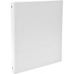 Exacompta 51378E - Carpeta de anillas, 4 anillas redondas de 30 mm, cartón forrado, tamaño A4, color blanco