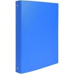 Exacompta 51471E - Carpeta de anillas, 4 anillas redondas de 30 mm, cartón forrado, tamaño A4, color azul claro