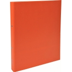 Exacompta 54374SE - Carpeta de anillas, 2 anillas redondas de 30 mm, cartón forrado, tamaño A4, color naranja