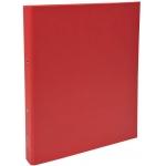Exacompta 54375E - Carpeta de anillas, 2 anillas redondas de 30 mm, cartón forrado, tamaño A4, color rojo