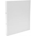Exacompta 54378E - Carpeta de anillas, 2 anillas redondas de 30 mm, cartón forrado, tamaño A4, color blanco
