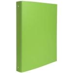 Exacompta 54473E - Carpeta de anillas, 2 anillas redondas de 30 mm, cartón forrado, tamaño A4, color verde claro