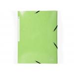 Exacompta 55823E - Carpeta de cartón con gomas, con tres solapas, tamaño A4+, color verde claro