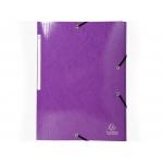 Exacompta 55826E - Carpeta de cartón con gomas, con tres solapas, tamaño A4+, color violeta