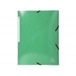 Exacompta 55830E - Carpeta de cartón con gomas, con tres solapas, tamaño A4+, color verde oscuro