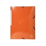 Exacompta 55836E - Carpeta de cartón con gomas, con tres solapas, tamaño A4+, color naranja